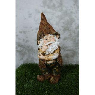 Alpine Rainforest Thinking Gnome Garden Statue