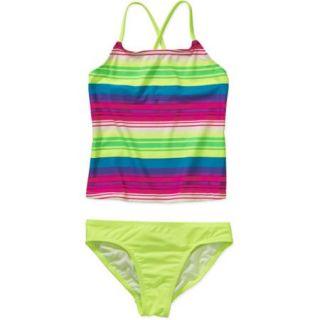 OP Girls' Tankini Stripes Swimsuit