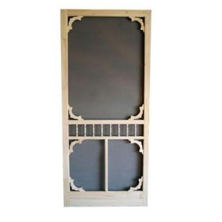 Screen Tight 36 in. x 80 in. Colonial Wood Unfinished Screen Door WCOL36