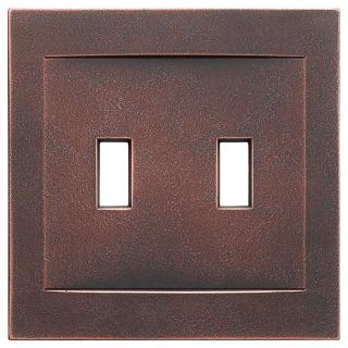 Somerset Collection Contemporary 2 Gang Oil Rubbed Bronze Wall Plate