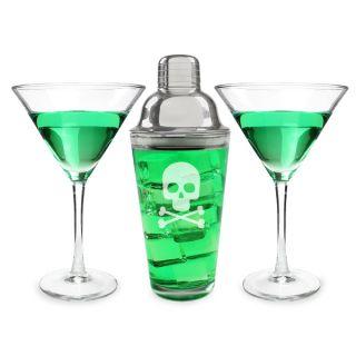 Halloween Skull and Crossbones Martini Set  ™ Shopping