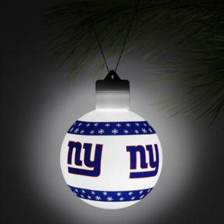 New York Giants LED Light Up Ball Ornament