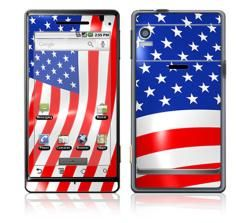 Love America Motorola Droid Decal Skin   13193868