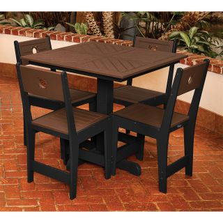 Eagle One LC825SSET 5 Piece Cafe 35 Square Dining Set   Two Tone