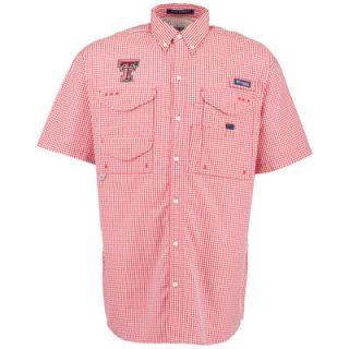 Texas Tech Red Raiders Columbia Super Bonehead PFG Short Sleeve Shirt   Red