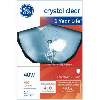G.E.� G25 Clear Decorative 3in Globe Bulb   6 Pack   Globe Light Bulbs