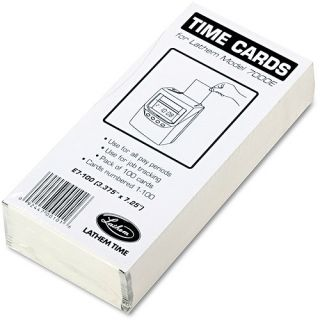 Lathem Time Time Card for Lathem Model 7000E, Numbered 1 100, Two Sided, 100/Pack