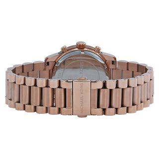 Michael Kors Cooper Chronograph White Dial Rose Gold tone Ladies Watch
