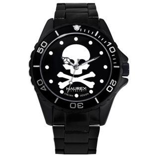 Haurex Italy Womens Ink Skull Black Aluminum Watch   15997310