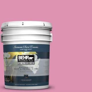 BEHR Premium Plus Ultra 5 gal. #P130 4 It's a Girl Satin Enamel Interior Paint 775405