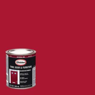 Glidden Trim and Door 1 qt. National Red Gloss Interior/Exterior Oil Paint GL  302  04