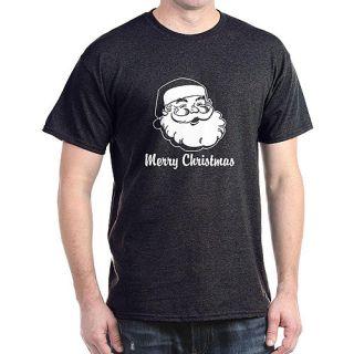 CafePress Big Men's Merry Christmas Santa Claus Dark T Shirt