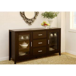 Furniture of America Metropolitan Dining Buffet/TV Cabinet in Dark