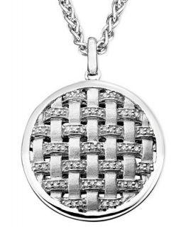 Balissima by EFFY Diamond Basket Weave (1/4 ct. t.w.) in Sterling