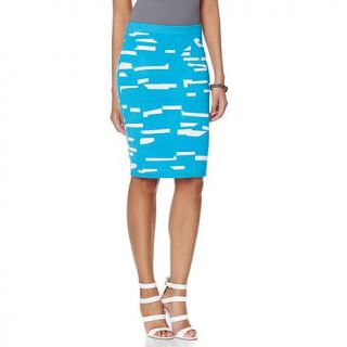 Wendy Williams Geo Print Slim Skirt   7999304