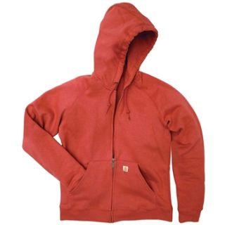 N/A Carhartt® WK185 Women's Hooded Zip front Sweatshirt   Heather Gray