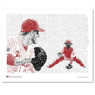 Roy Halladay Philadelphia Phillies 16 x 20 Perfect Game & No Hitter Sports Art