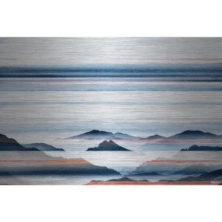 Parvez Taj   Hidden Blue Mountains Painting Print on Brushed