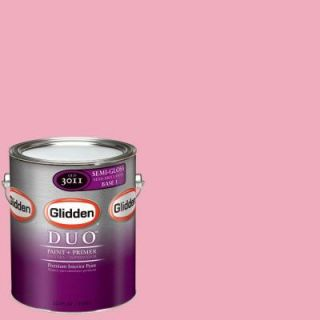 Glidden DUO 1 gal. #GLR13 01F Pink Carnation Semi Gloss Interior Paint with Primer GLR13 01S