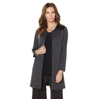 Slinky® Brand Long Sleeve Textured Duster with Pockets   7972819