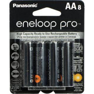 Panasonic eneloop pro AA Rechargeable Ni MH BK 3HCCA8BA