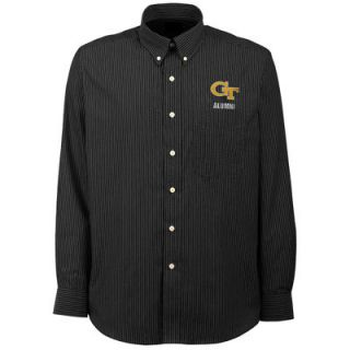 Georgia Tech Yellow Jackets Antigua Republic Alumni Button Down Shirt   Navy Blue