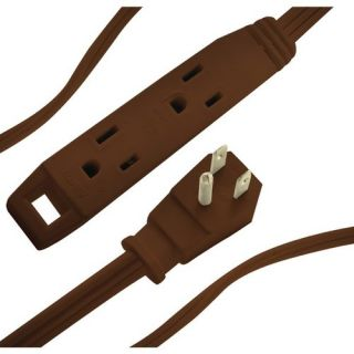 AXIS 45504 3 Outlet Indoor Extension Cord, 8ft (Brown)