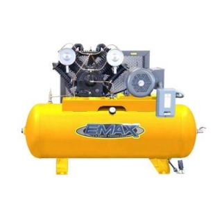 EMAX Industrial PLUS Series 120 Gal. 20 HP 3 Phase 2 Stage Stationary Electric Air Compressor HP20H120V3
