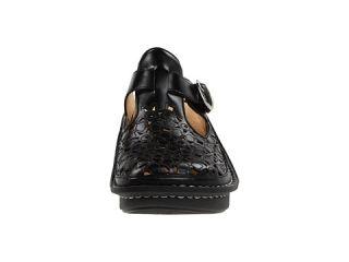 Alegria Classic Cut Out Dusty Black Leather