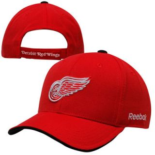 Reebok Detroit Red Wings Youth Basic Structure Adjustable Hat   Red