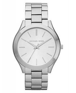 Michael Kors Womens Slim Runway Stainless Steel Bracelet Watch 42mm