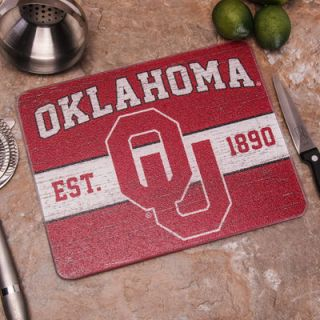 Oklahoma Sooners Small Tempered Glass Cutting Board
