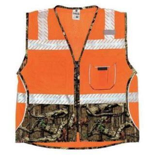 ML KISHIGO 1524 3X Safety Vest, 3XL, Orange, Male