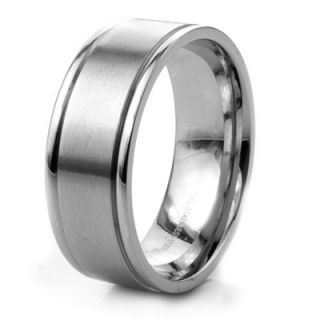 West Coast Jewelry Mens Stainless Steel Band Ring