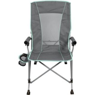 Ozark Trail 3 Position High Back Chair with Steel Frame, Grey