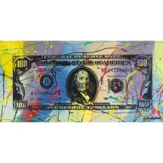 Jaxson Rea ''One Hundred Dollar Ben'' by Steve Kaufman Graphic Art on Wrapped Canvas