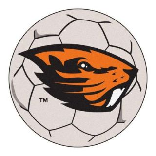 FANMATS NCAA Oregon State University Cream 2 ft. 3 in. x 2 ft. 3 in. Round Accent Rug 4526