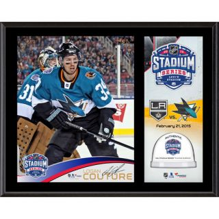 Fanatics Authentic Logan Couture San Jose Sharks 12 x 15 2015 Stadium Series Sublimated Plaque with Game Used Ice   Limited Edition of 100