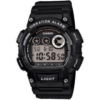 Casio Mens Sport Digital Watch, Black Resin Strap