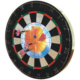Trademark Games Insert A Photo Dartboard Set with 6 Brass Tip Darts