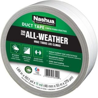 Nashua Tape 1 7/8 in. x 60 yd. 398 All Weather HVAC Duct Tape in White 1207797
