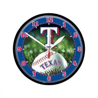 WinCraft MLB Round Wall Clock   Texas Rangers   7795357