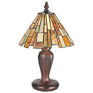 Meyda Tiffany Jadestone Delta Mini 13 H Table Lamp with Empire Shade