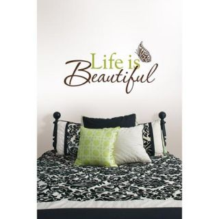 "WallPops ""Life Is Beautiful"" Wall Art Decals"
