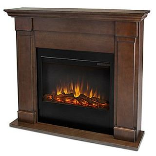 Real Flame Lowry Slim Electric Fireplace; Vintage Black Maple