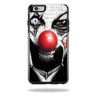 MightySkins Protective Vinyl Skin Decal Cover for OtterBox Symmetry iPhone 6/6S Plus Case Cover Sticker Skins Evil Clown