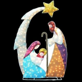 6 ft. Lighted Tinsel Nativity Yard Sculpture TY010 1314