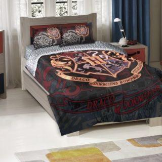 Harry Potter School Motto Twin/Full Bedding Comforter Set