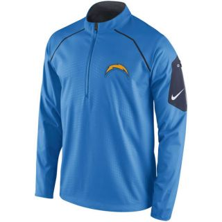 Nike San Diego Chargers Powder Blue Alpha Fly Rush Half Zip Jacket