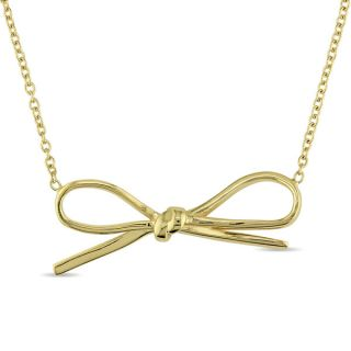 Bow Necklace in Yellow Plated Italian Sterling Sliver by Miadora